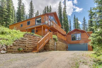 The daniels mountain view log cabin 4 bd vacation rental for Cabin rentals vicino a breckenridge co