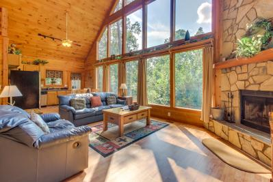 views three mountain luxury ridge ga georgia blue in bedroom cabin cabins rentals pin rental with sunset
