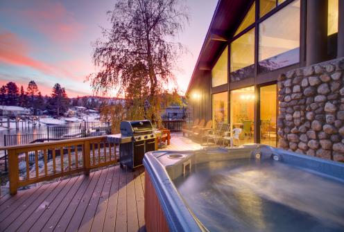 Waterfront Apres' Ski Cabin with Hot Tub -  Vacation Rental - Photo 1