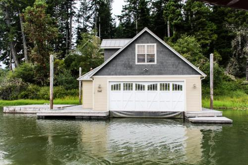 Blacks Arm Luxury Home with Boat House - Boat-Access Only - Lakeside, OR Vacation Rental