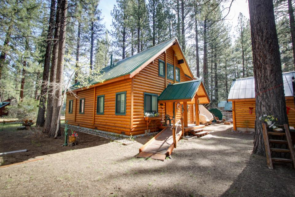 Charming Log Cabin At Al Tahoe 3 Bd Vacation Rental In: rent a cabin in lake tahoe ca
