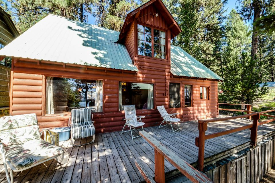 rustic red cabin with dock 2 bd vacation rental in